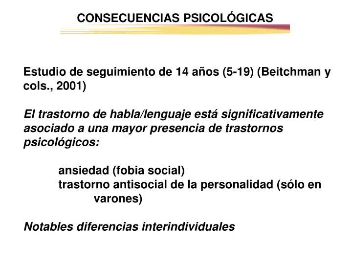 CONSECUENCIAS PSICOLÓGICAS