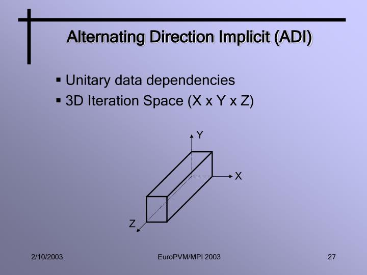Alternating Direction Implicit (ADI)