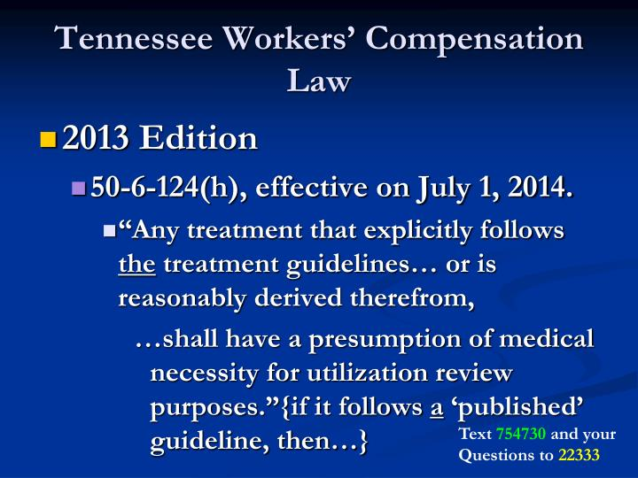 Tennessee Workers' Compensation Law