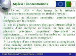 alg rie concentrations