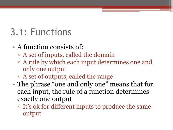 3 1 functions