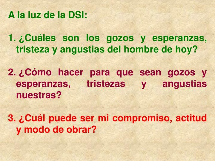 A la luz de la DSI: