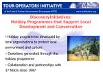 discoveryinitiatives holiday programmes that support local development and conservation
