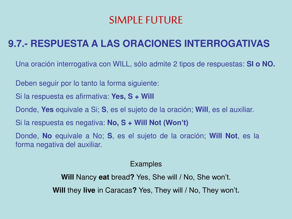 Ppt El Futuro Simple Powerpoint Presentation Free