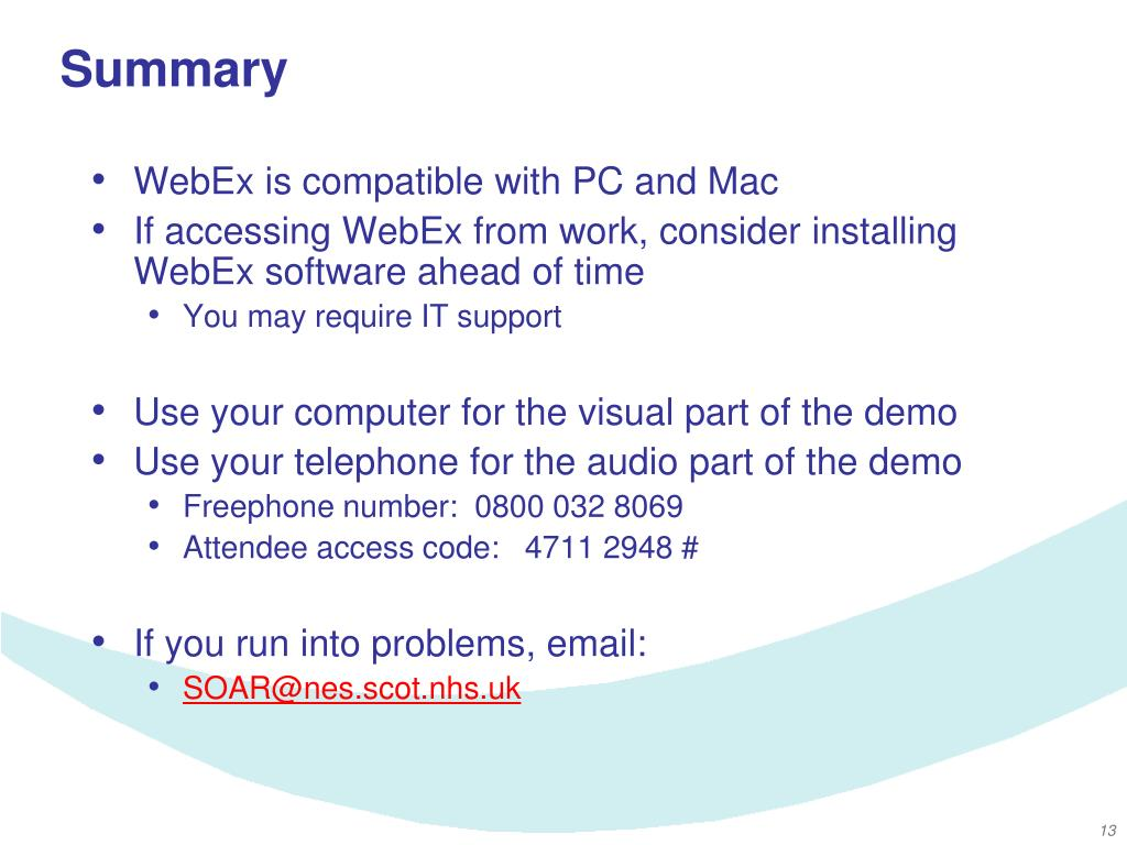 PPT - How to Install & Join a WebEx Demo PowerPoint