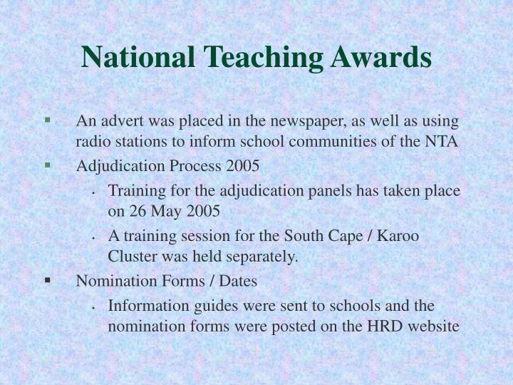 National Teaching Awards
