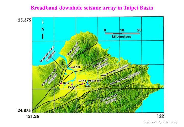 Broadband downhole seismic array in Taipei Basin