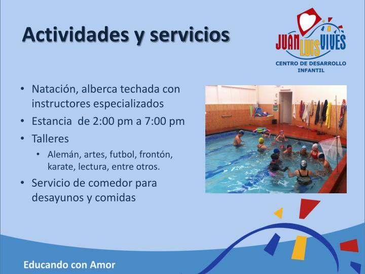 Actividades y servicios