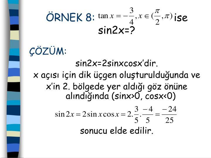 ÖRNEK 8:
