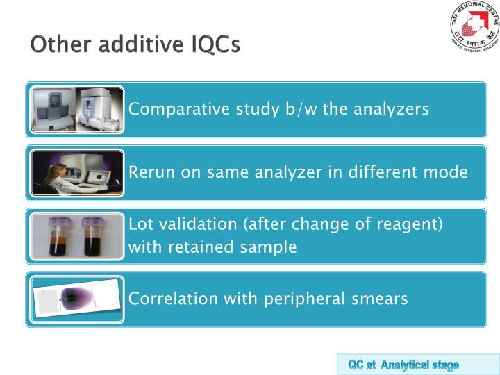 Other additive IQCs