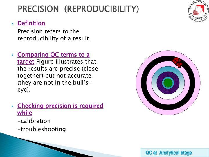 PRECISION  (REPRODUCIBILITY)