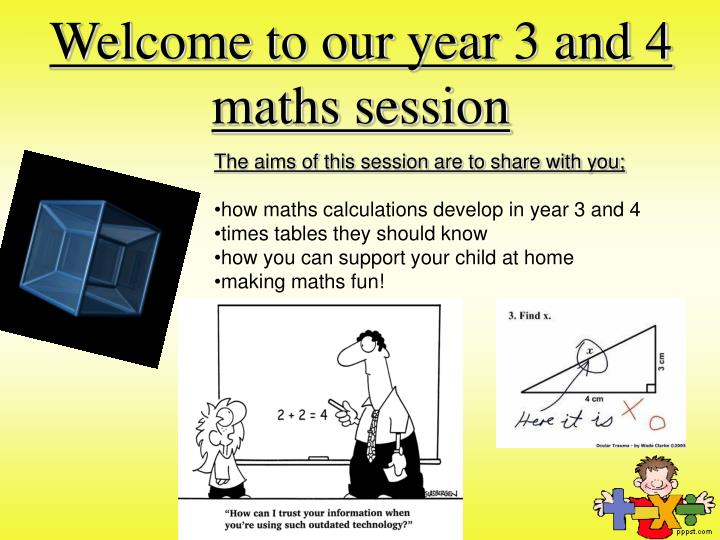 welcome to our year 3 and 4 maths session n.