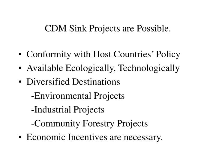 Cdm sink projects are possible