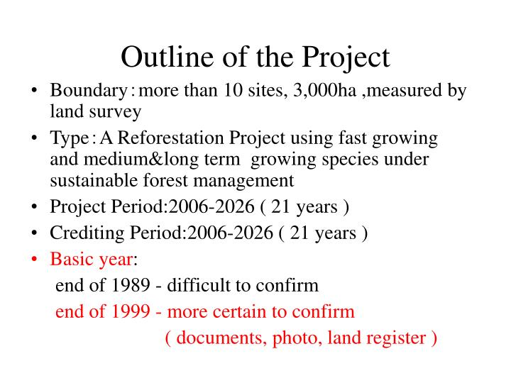 Outline of the Project