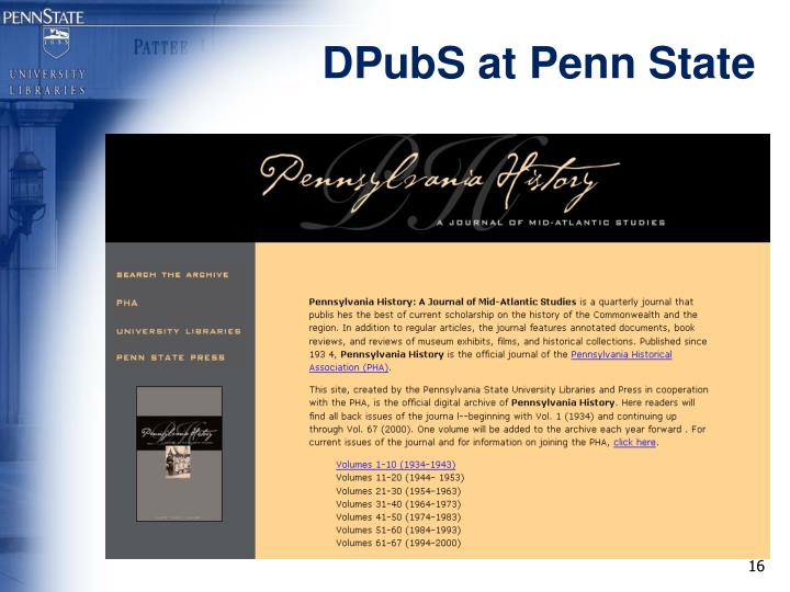 DPubS at Penn State