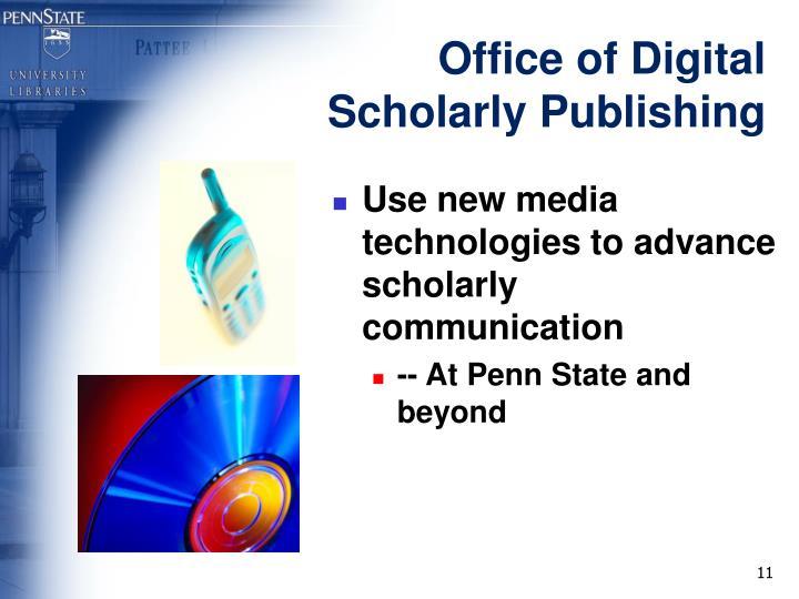 Office of Digital Scholarly Publishing