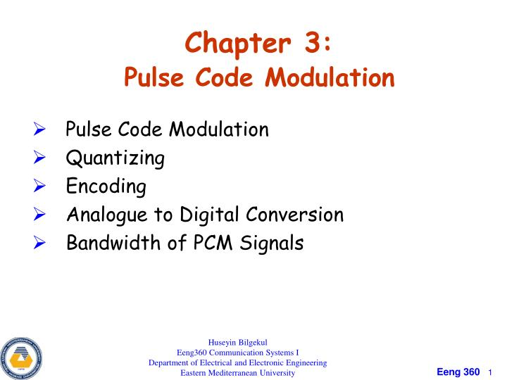 chapter 3 pulse code modulation n.