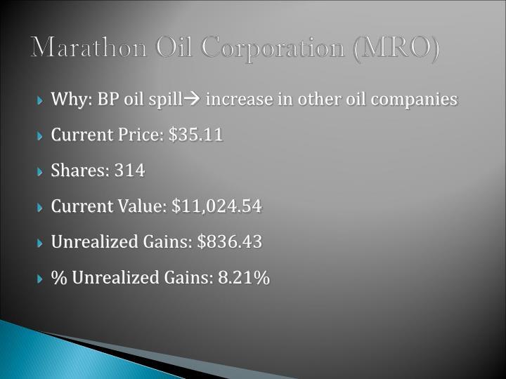 Marathon Oil Corporation (MRO)