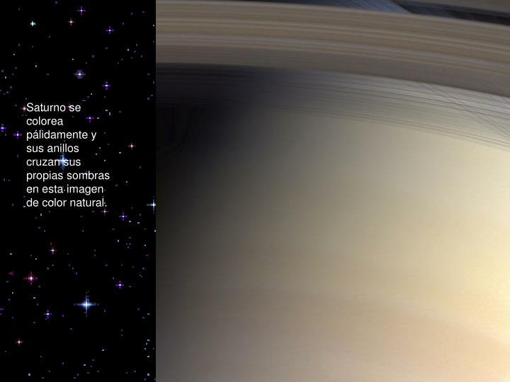 Saturno se colorea
