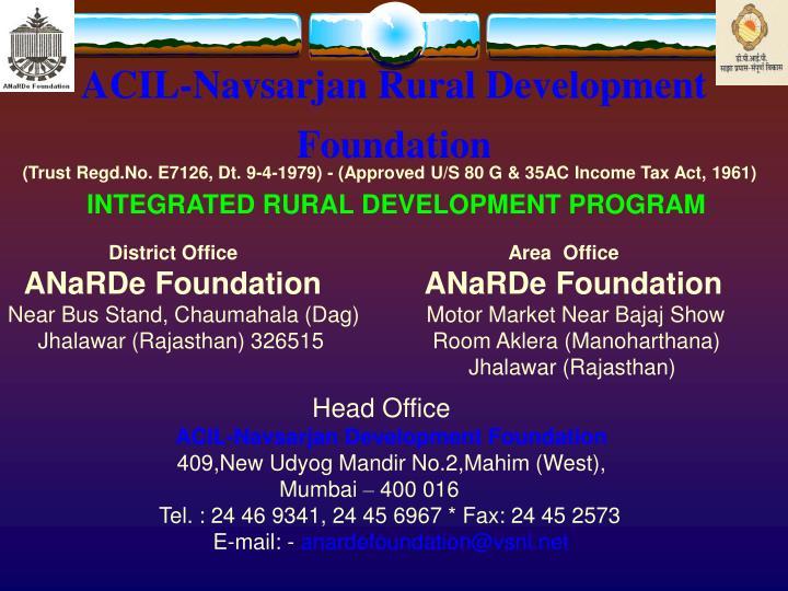 Acil navsarjan rural development foundation