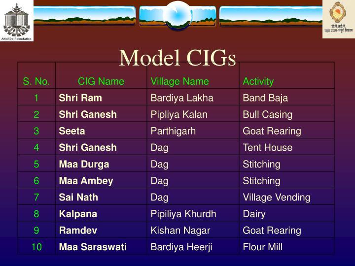 Model CIGs