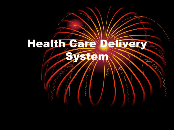 health care delivery system n.