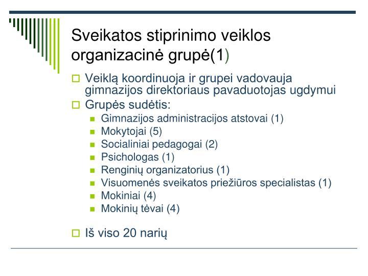 Sveikatos stiprinimo veiklos organizacinė grupė(1