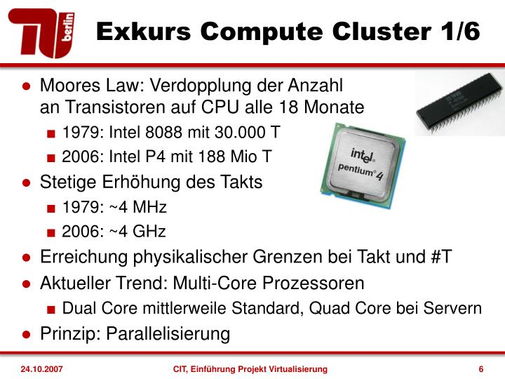 Exkurs Compute Cluster 1/6