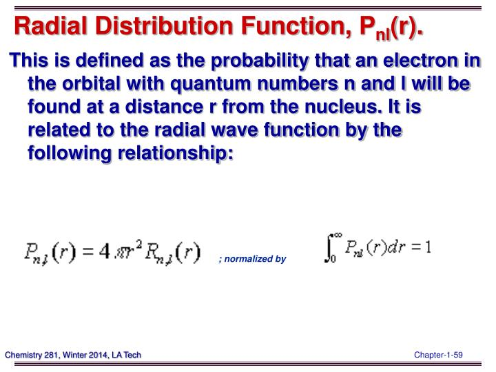 Radial Distribution Function,