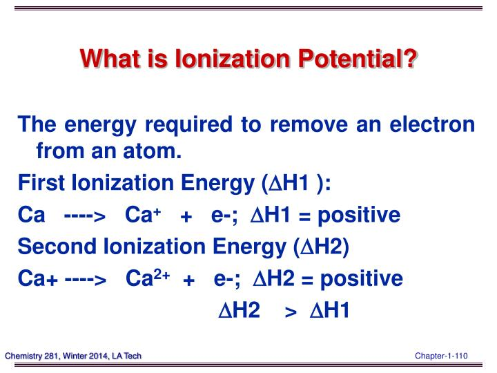 What is Ionization Potential?