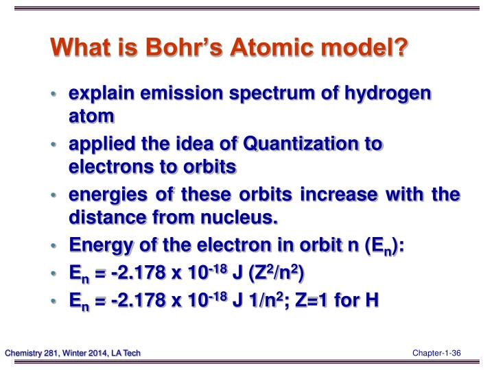 What is Bohr's Atomic model?