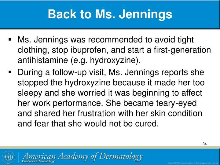 Back to Ms. Jennings