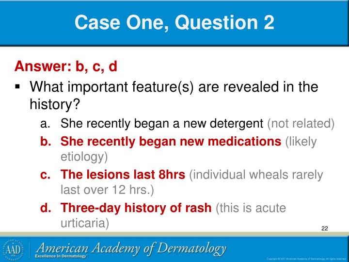 Case One, Question 2
