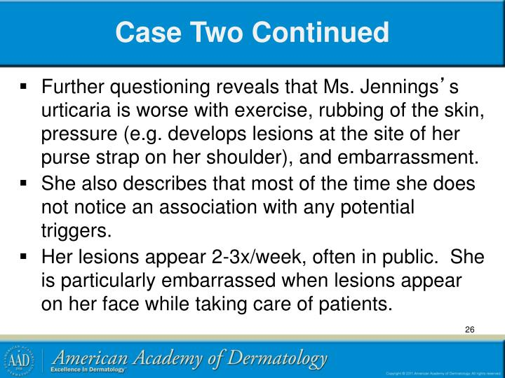 Case Two Continued