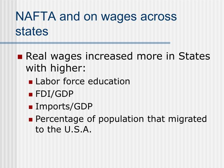 NAFTA and on wages across states