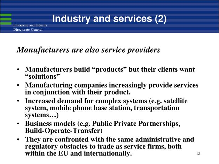 Industry and services (2)