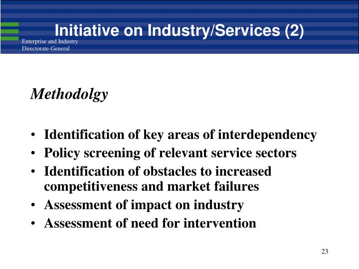 Initiative on Industry/Services (2)