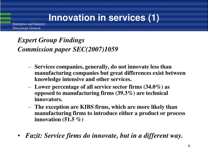 Innovation in services (1)