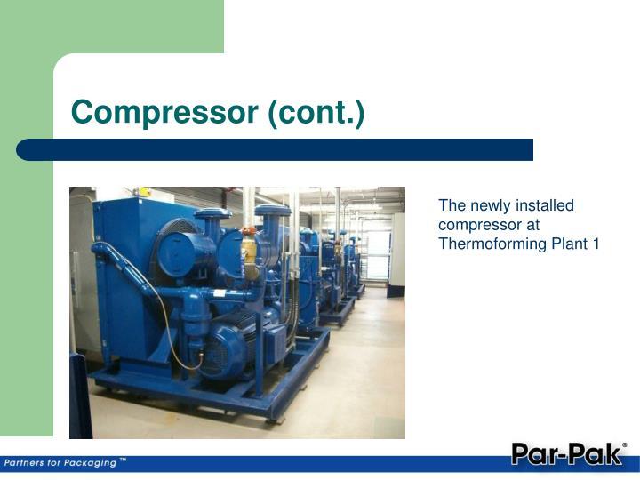 Compressor (cont.)