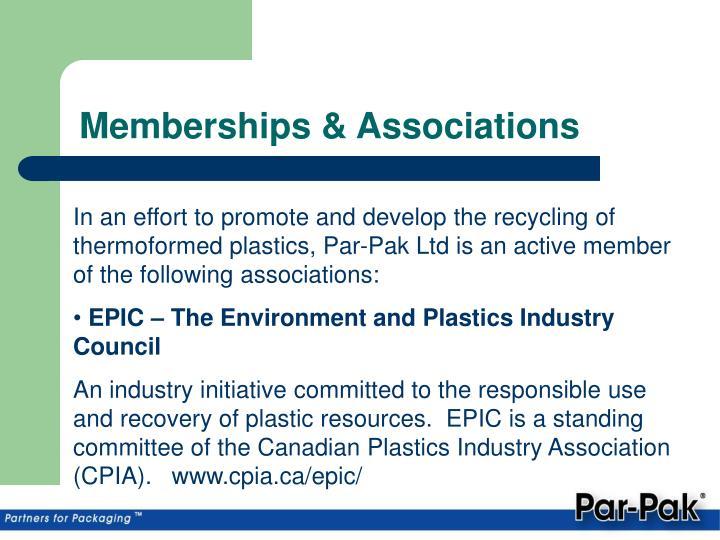 Memberships & Associations
