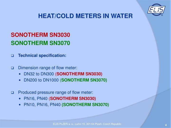HEAT/COLD METERS