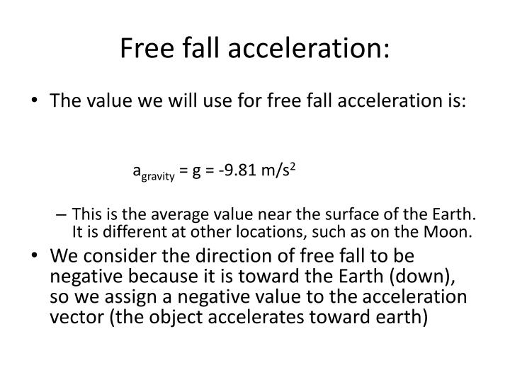 Free fall acceleration1
