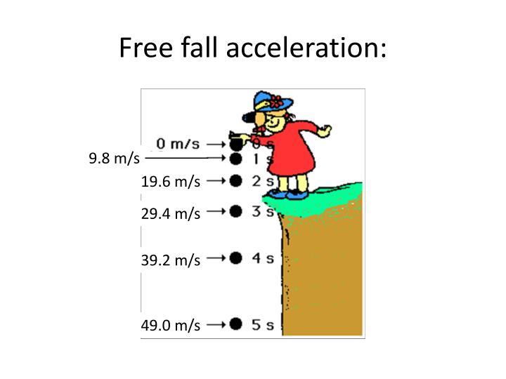 Free fall acceleration: