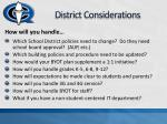 district considerations