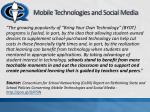 mobile technologies and social media
