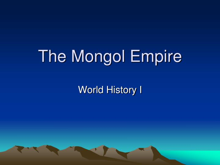 the mongol empire n.