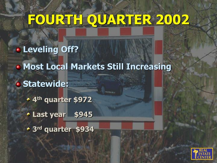 FOURTH QUARTER 2002