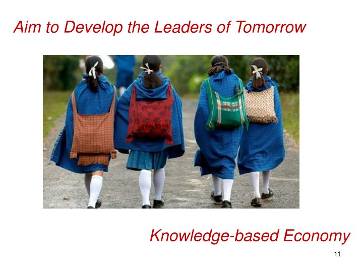 Aim to Develop the Leaders of Tomorrow