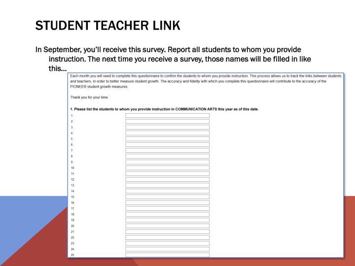 STUDENT Teacher LINK