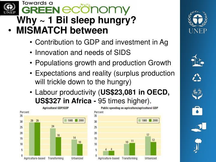 Why ~ 1 Bil sleep hungry?
